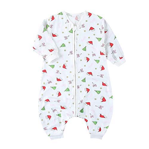 gling Schlafanzug Split Leg Baumwolle Muster zum Kleinkind 75 to 105 cm, 1.5 Tog (Weihnachten Hut, 80 cm) ()