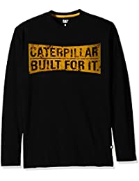 CAT Workwear Mens Curved Banner 100% Cotton Long Sleeve T-Shirt