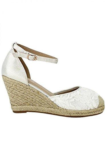 Cendriyon, Espadrille blanche DFM Mode Chaussures Femme Blanc