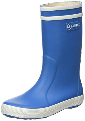 Aigle Unisex-Kinder Lolly Pop Gummistiefel, Blau (Saphir), 26 EU -