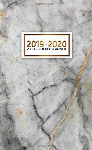 2019-2020 2 Year Pocket Planner: Nifty Two-Year Tundra Grey Planner with  Phone Book, Password Log and Notebook  Pretty Natural Marble 24 Month  Planner