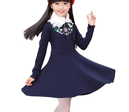 Ahatech Mädchen Prinzessin A-Line Warm (Rapunzel Kostüm Teenager)
