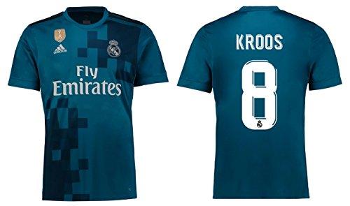Trikot Herren Real Madrid 2017-2018 Third WC - Kroos 8 (XL) (Real Madrid Wc)