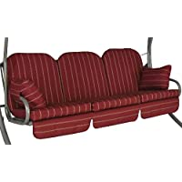 Angerer 1018/024   Deluxe Schaukelauflage Faro, Rot, 3-Sitzer