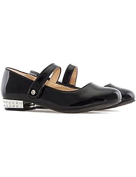 Andres Machado AM5169.Zapato Mary Jane de Niña EN Charol. Tallas Pequeñas 26/35. Niña