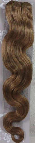 45,7 cm Blond Doré (# 16) trames de cheveux vierges brésiliens Remy ondulés – Tissage 100% Cheveux Humains vierges brut