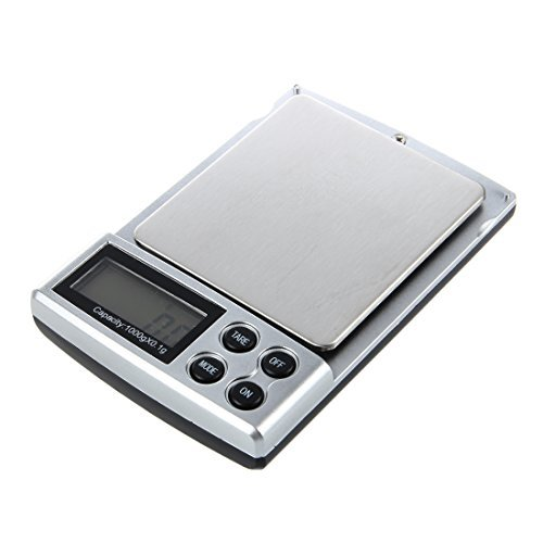 TOOGOO (R) 0.1 bis 1.000 Gramm 0.1-1kg Mini Kueche Buero Schmuck Elektronische Digitale Tasche Skala Balance (Für Digitale Schmuck Skala)
