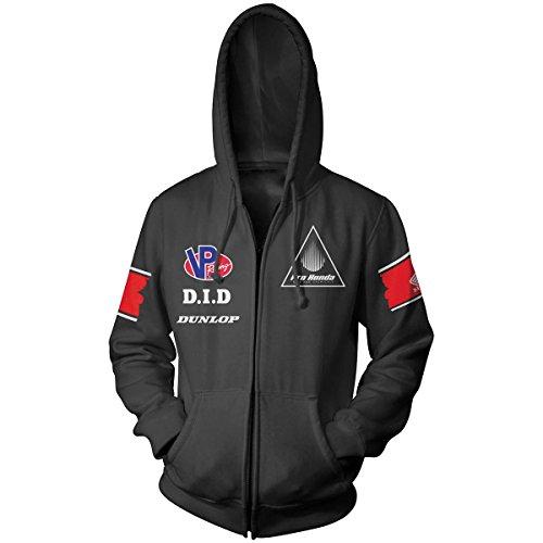 Honda Collection Team schwarz Zip Hoody, Geschlecht: Herren/Unisex, Primär Farbe: Schwarz, Größe: 2X L 54-7366 Honda Zip Hoody Sweatshirt
