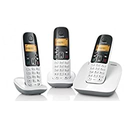 Gigaset A490 Trio white cordless phone