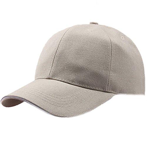 TUDUZ Unisex Kappe Schwarze Baseball Cap Verstellbar Mütze Einfarbig Hut Sommer Cappy - 10 Farben(,Beige)