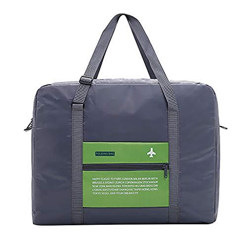 Coconute Mode Herren und Damen einfarbig große Kapazität Reisetasche Aufbewahrungstasche Gepäcktasche Großräumige Handtasche Schultertasch Sporttasche(Green)