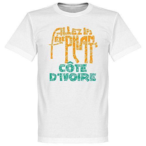 Los elefantes Allez marfil Coast T-Shirt - Blanco, 100% algodón, blanco, X-Large