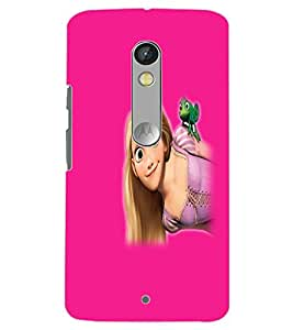 MOTOROLA MOTO X PLAY BEAUTIFUL GIRL Back Cover by PRINTSWAG