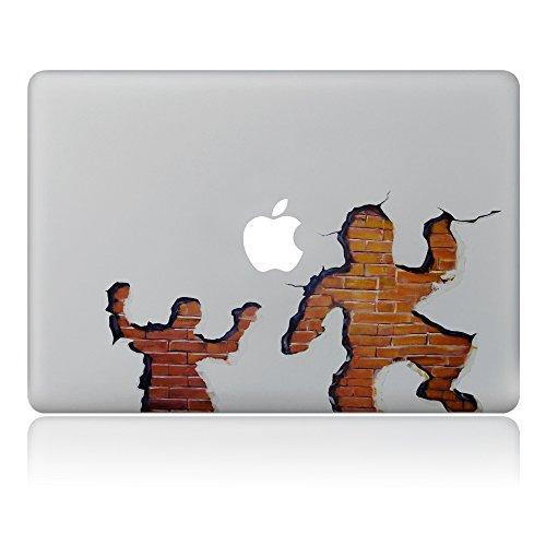 Cinlla® 3D Herren Schatten Laptop AufKleber Notebook Schutzfolie Haut aus Vinyl Skin Sticker Decal für Apple Macbook 12