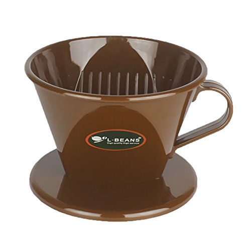 FLAMEER Kunststoff Teesieb Teefilter tragbar Kaffeefilter - Braun, 11.7cm