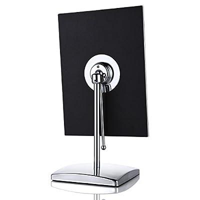 Miusco Tabletop Vanity Makeup Spiegel, Rechteckig 9,8 X 7 Zoll, Chrom