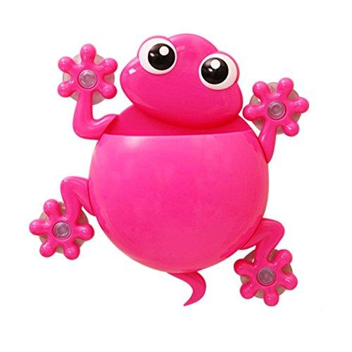 Portacepillos de dientes salamandra con ventosa de color rosa