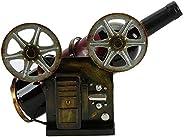 Retro Camera Wine Bottle Holder Vintage Industrial Metal Wine Rack Shelf Wrought Iron Antique Free Standing Co