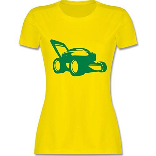 Andere Fahrzeuge - Rasenmäher - tailliertes Premium T-Shirt mit Rundhalsausschnitt für Damen Lemon Gelb