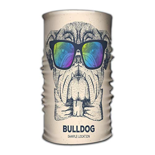 Jiuyiqit2 Comfy Face Bandana Mask Breathable Headwrap Hipster Animal Bulldog Hand Drawing Muzzle Dog