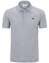 Lacoste YH4801 Herren Poloshirt L1230 SF in Slim Fit, Polohemd, Polo, Kurzarm aus 100% Baumwolle