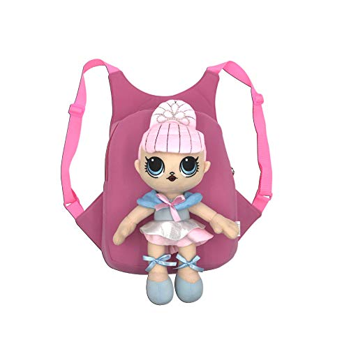 C&NN LOL Surprise Pattern Kinderrucksack, Geschenkschultasche für Mädchen Confetti Pop, Plüschrucksack, Unter 6 Jahre,LoL1 Pop Kleid