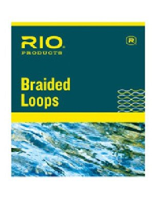 Rio Fly Fishing Braided Loops Orange Lines 3-6 4 Pack Fly Tying Equipment, Clear, Regular -
