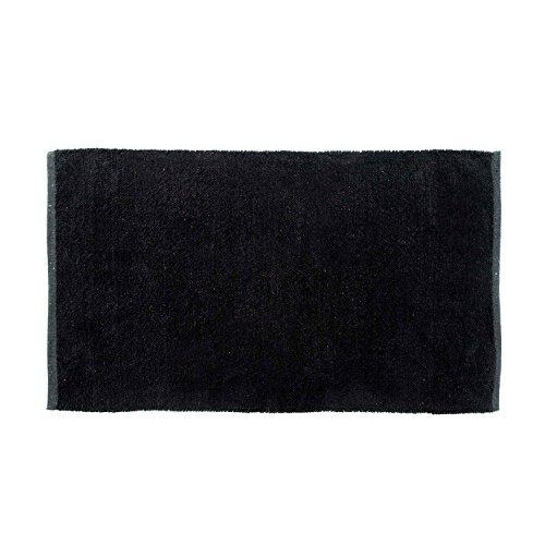 r Chenille Teppich Vorleger 60 x 100 cm aus 100% Reiner Baumwolle, Farbe: schwarz, pflegeleicht und strapazierfähig ()