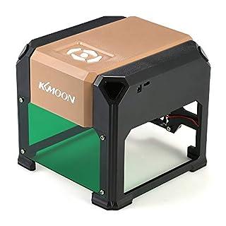 KKmoon 3000 mW High Speed Lasergravur Maschine, USB DIY Carving Graveur Handwerk Holzofen Werkzeuge Automatische K5 Typ mit 80 * 80mm Große Gravurfläche für Win XP / 7/8/10