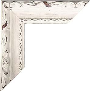 Chaks 1405, Grand cadre PhotoBooth LUXE bois 80cm avec moulure, Blanc