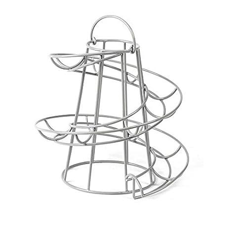 Support pour œufs support Rack de stockage de cuisine spirale Helter Skelter (peut contenir jusqu'à 18oeufs)