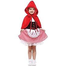 Tongchou Disfraz de Caperucita Roja para Ninas Carnaval Fiesta Halloween
