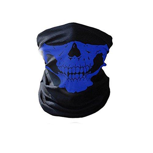 iKulilky Motorrad Gesichtsmasken Schädel Radfahren Maske Winddicht Halswärmer für Outdoor Reiten Wandern Skifahren Magic Bandana (Krawatte Reiten)