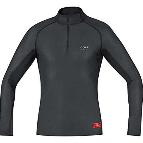 GORE BIKE WEAR Herren Warmes Stehkragen-Unterzieh-Shirt, Langarm, Stretch, GORE WINDSTOPPER, BASE LAYER Turtleneck, Größe: L, Schwarz, UWTNSP