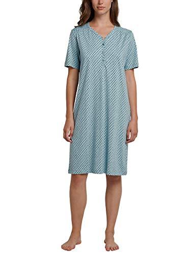 Schiesser Damen 1/2 Arm, 100cm Nachthemd, Grün (Jade 713), 42 (Herstellergröße: 042) -