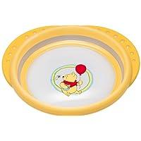 NUK 10255155 Disney Easy Learning Esslern-Teller mit Deckel, Anti-Rutsch-Griffe, rutschfester Boden, BPA-frei, gelb