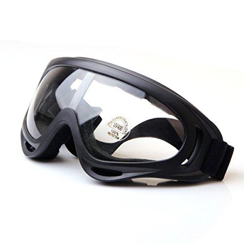 HugeStore Unisex Snowmobile Skibrille Gletscherbrille Schutzbrille Motorradbrillen Fliegerbrille Schneebrille Radsportbrille Klar