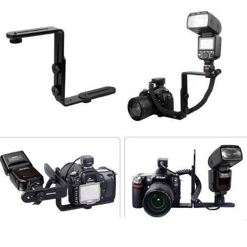 Racksoy–Metal en forma de L Flash Bracket linterna soporte de cámara Quick...