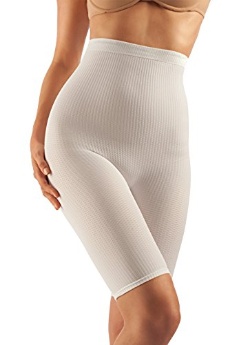 Farmacell 113 (bianco, s/m) short vita alta guaina massaggiante dimagrante calzoncino anti cellulite
