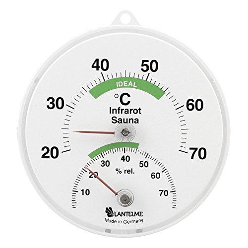 Sauna Kombi Thermometer / Hygrometer für Infrarotkabinen . Bimetall Sauna Thermohygrometer Analog .