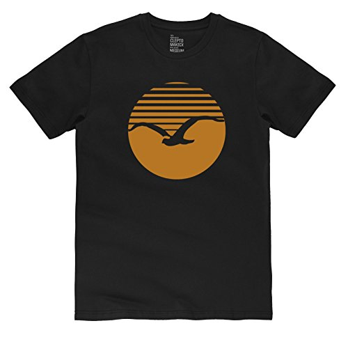 Cleptomanicx Big Sunrise T-Shirt Black Yellow Schwarz