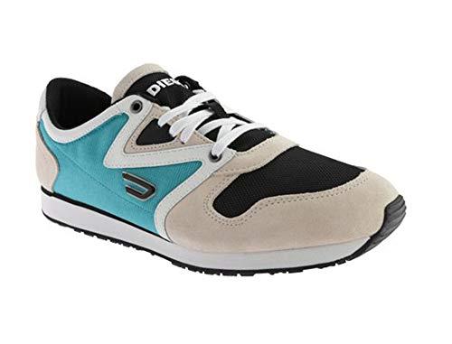 Diesel Herren Sneaker Schuhe Black Jake E-BOOJIK (EUR 45, Sandshell/Black/Tropical Green) - Jake Diesel