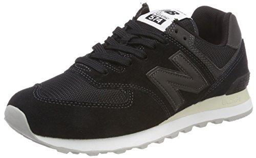New Balance Herren 574v2 Sneaker, Schwarz (Black/Black ETA), 44.5 EU
