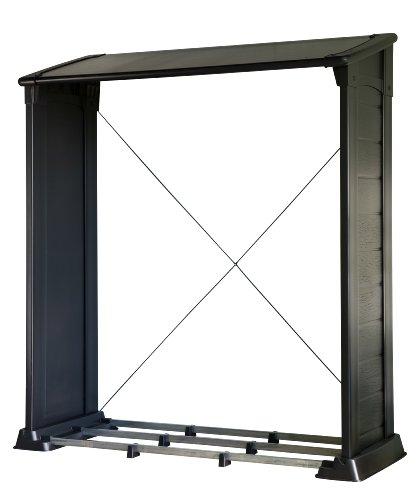 Kaminholzunterstand design  Das richtige Kaminholzregal für dein Brennholz