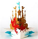 BC Worldwide Ltd Scheda 3D pop-up a mano San Giorgio e Drago festa di compleanno anniversario scuola di matrimonio iscrizione laurea halloween natale padri carta regalo per lui la sua amica famiglia