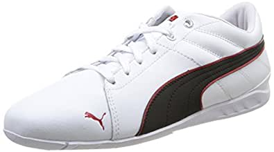 Puma Racing Cat 1.1 Venture, Chaussons Sneaker Homme - Blanc (White-Black-High Risk Red 03), 47 EU