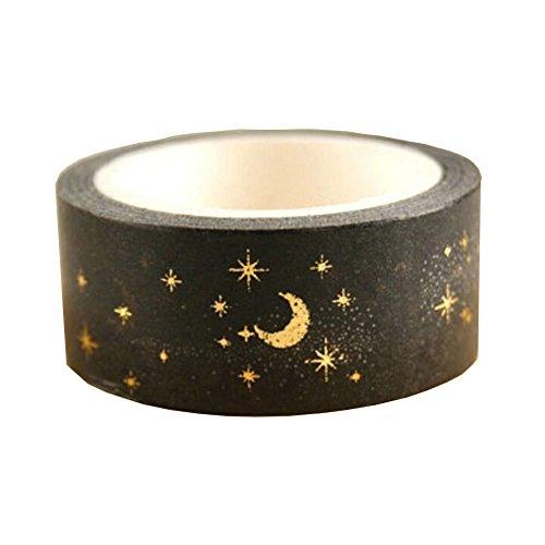 15mm x 5m Weihnachten Golden Silber Folie DIY Scrapbook Papier Washi Tape Einheitsgröße G002 - Weihnachten Scrapbook-papier