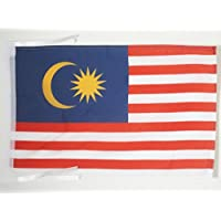 AZ FLAG Malaysia Flag 18'' x 12'' Cords - Malaysian Small Flags 30 x 45cm - Banner 18x12 in