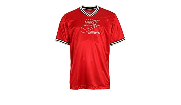 Nike Sportswear Mens Archive T Shirt RedBlack Sail AH0717