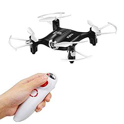 DoDoeleph Syma X20-S Without Camera Mini Pocket RC Drone Gravity Sensor Headless Auto Hover Mode 360° Stunt Flip One Key Take-off Landing Quadcopter For Kids